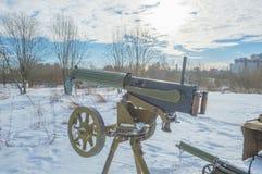 Ametralladora de la máxima en el trípode, Segunda Guerra Mundial imágenes de archivo libres de regalías