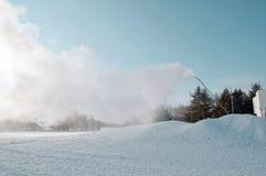 Ametralladora de la nieve Imágenes de archivo libres de regalías