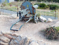 Ametralladora de Old del modelo de escala Foto de archivo