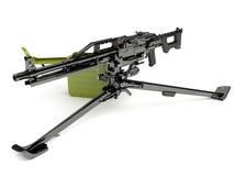 Ametralladora Peheneg con un montaje de trípode stock de ilustración