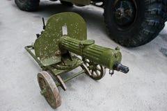 Ametralladora vieja del vintage, el sistema de la máxima Arma de la máxima Fotos de archivo libres de regalías