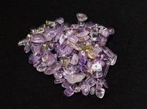 Ametrine, fundo de pedra de forma livre Fotografia de Stock Royalty Free