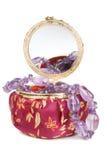 ametysta pudełkowata biżuterii kolia Zdjęcia Stock