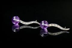 ametystowa biżuteria obrazy stock