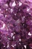 ametystowa naturalna kamienna tekstura Zdjęcia Royalty Free