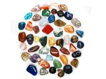 Ametystowego kwarcowego garnet jaspisowego agata kryształów geological collecti Zdjęcia Stock