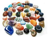 Ametystowego kwarcowego garnet jaspisowego agata kryształów geological collecti Zdjęcie Royalty Free