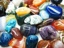 Ametystowego kwarcowego garnet jaspisowego agata kryształów geological collecti Zdjęcie Stock
