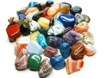 Ametystowego kwarcowego garnet jaspisowego agata kryształów geological collecti Fotografia Stock
