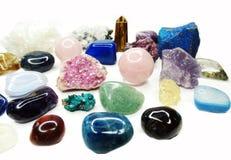 Ametystowego kwarcowego garnet sodalite agata geological kryształy Obrazy Stock