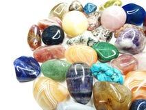 Ametystowego kwarcowego garnet sodalite agata geological kryształy Zdjęcie Stock