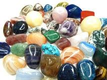Ametystowego kwarcowego garnet sodalite agata geological kryształy Zdjęcia Stock