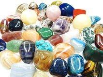 Ametystowego kwarcowego garnet sodalite agata geological kryształy Zdjęcia Royalty Free