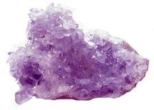 Ametystowej geody geological kryształy obraz stock