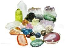Ametystowej kwarcowej geody geological kryształy obraz royalty free