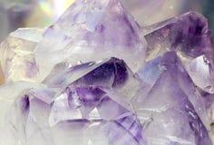 Ametystowy krystaliczny makro- obrazy royalty free