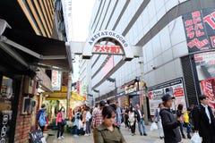 Ameyoko购物街道是上野聚焦  库存图片