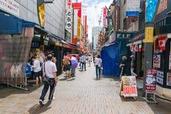 Ameyoko market alley, street with people Stock Photo