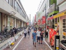 Ameyoko market street, Tokyo, Japan. Stock Photos