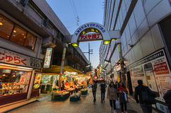Ameyoko Shopping Street in tokyo,Japan stock photo
