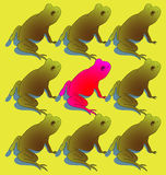 Amfibie Individualiteit Vector Illustratie