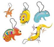 amfibii kolekci gady Obraz Stock