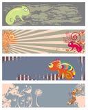 amfibii kolekci gady Zdjęcie Stock
