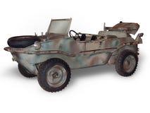 Amfibisch VW op Wit stock fotografie