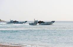 Amfibische personeelsdrager Stock Foto's