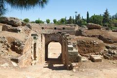 Amfiteater av Merida Royaltyfri Fotografi