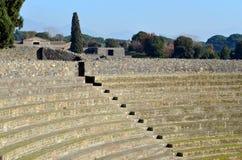 Amfiteater av Pompeii, den romerska staden Fotografering för Bildbyråer