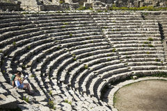 Amfiteater av Segesta Arkivfoton