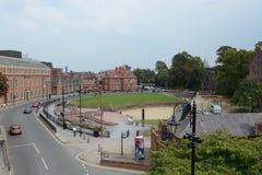 Amfiteater för Chester stadsmitt Arkivbild