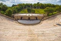 Amfiteater i Alt de Chavon, Casa de Campo Arkivbilder