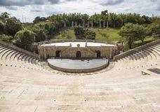 Amfiteater i Alt de Chavon, Casa de Campo Arkivbild