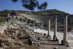 Amfiteater i den forntida ephesusen, kalkon Royaltyfri Fotografi