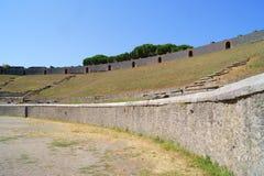 Amfiteater i forntida Pompeii Arkivfoton