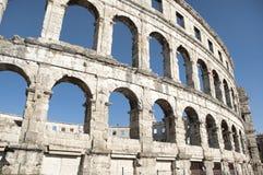 Amfiteater i Pula Arkivbilder