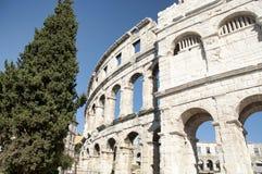 Amfiteater i Pula Royaltyfri Bild