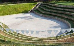 Amfiteater och utomhus- etapp Arkivfoton