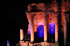 Amfiteater på Taormina fotografering för bildbyråer