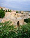 amfiteater roman tarragona Royaltyfri Bild