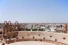amfiteater roman tunisia Royaltyfri Foto