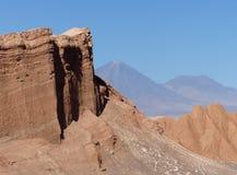 Amfiteater Valle de la Luna, Atacama öken, Chile Arkivfoton