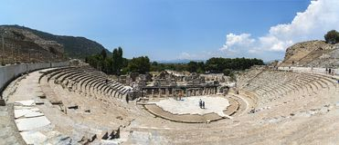 AmfiteaterColiseum i Ephesus Efes Turkiet royaltyfria bilder