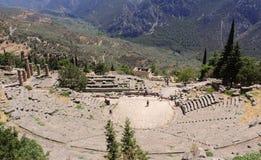 Amfiteatern på Delphi arkivbild