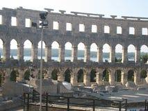 Amfiteatrów pula przy północnym Croatia fotografia royalty free