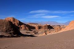 Amfiteatr, Valle de los angeles Luna, dolina księżyc, Atacama pustynia Chile Obrazy Royalty Free