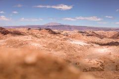 Amfiteatr, Valle de los angeles Luna, dolina księżyc za zachód od San Pedro, Atacama pustynia Chile obrazy royalty free