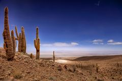 Amfiteatr, Valle de los angeles Luna, dolina księżyc za zachód od San Pedro, Atacama pustynia Chile zdjęcia royalty free